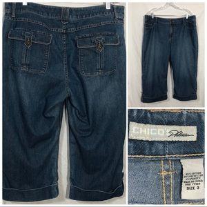 Chico's Platinum jean capri size 3